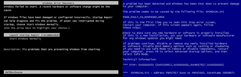 Windows-virus-error